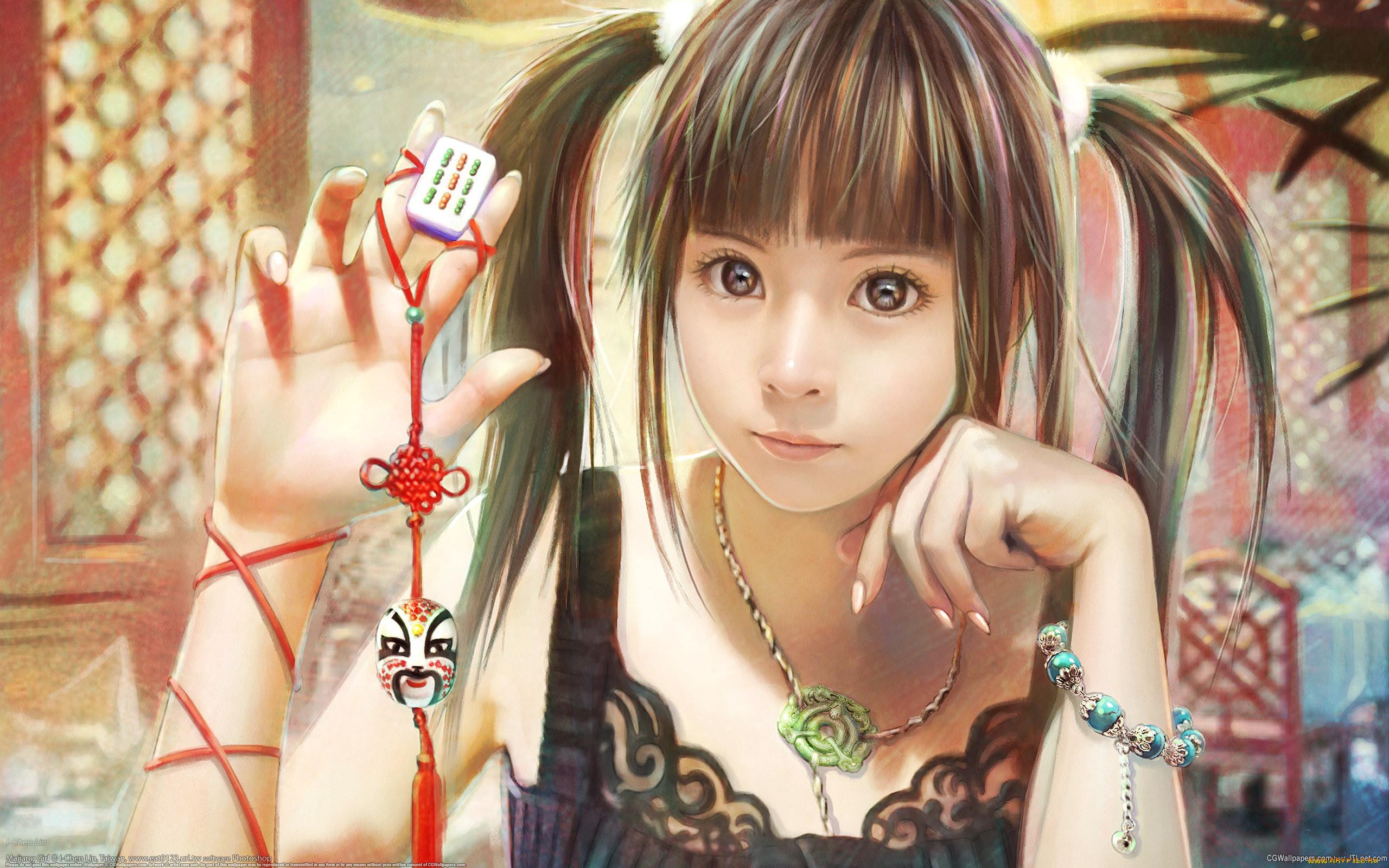Японские рисованные девушки 8 фотография